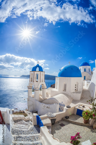 Zdjęcia na płótnie, fototapety na wymiar, obrazy na ścianę : Oia village on Santorini island in Greece