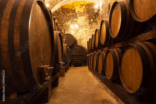 Cellar With Barrels For Storage Of Wine © Shchipkova Elena