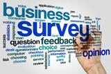 Survey word cloud concept