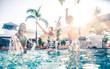 Obrazy na płótnie, fototapety, zdjęcia, fotoobrazy drukowane : Swimming pool party