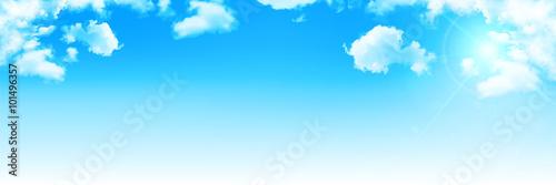 Fotobehang Blauw 空 雲 風景 背景