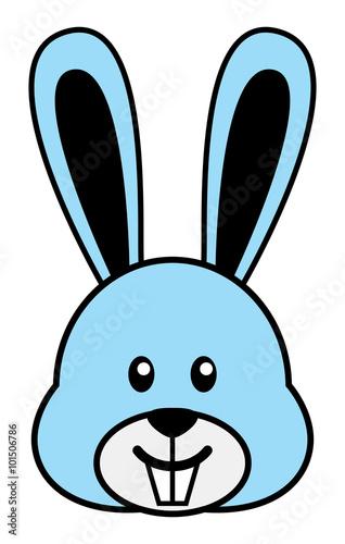 Naklejka Simple cartoon of a cute rabbit