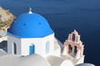Typical greek church in Oia town - Santorini