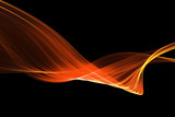 Fototapety red glow energy wave. lighting effect abstract background with c