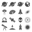 Icon Set Collection of Planet and Outer Space