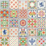 Fototapety Indigo Blue Lisbon Paint Tile Floor Oriental Spain Ornament Collection Seamless Patchwork Pattern Colorful Painted Tin Portugal Ceramic Tilework Vintage Illustration background Vector Pattern Brocade