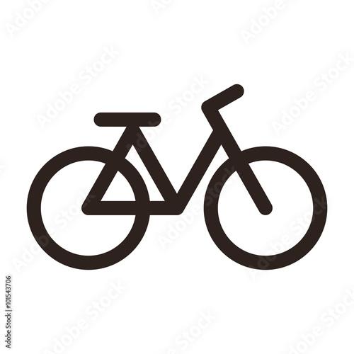 Bicycle icon. Bike symbol