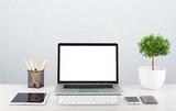 Fototapety Laptop on the desk