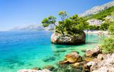 crystal clear water of Adriatic sea in Brela on Makarska Riviera, Dalmatia, Croatia - 101549344