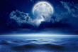 Winter night, full moon