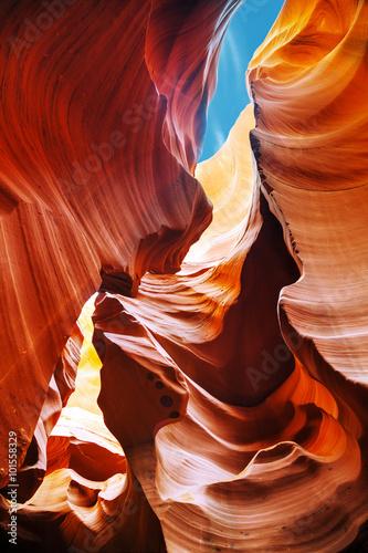 Fotobehang Rood traf. Lower Antelope Canyon view near Page, Arizona