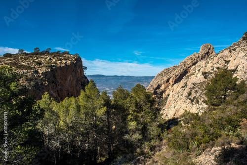 Rocky mountains in Alicante. Costa Blanca, Valencia. Spain