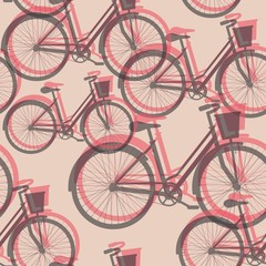 Bicycles seamless background