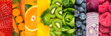 collage of colorful healthy fruits and vegetables