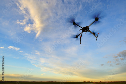 Poster Flying with a drone for video and photo productions