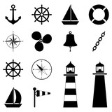Set of sea icons, vector illustration