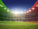 Stadion farbiges Licht Italien 2