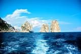 Capri island, famous Faraglioni rocks, Italy