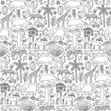 Hand drawn Africa seamless pattern