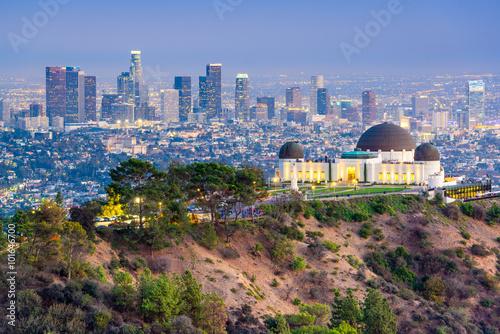 Foto op Aluminium Beijing Griffith Park, Los Angeles, California, USA Skyline