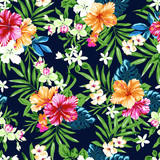 Fototapety colorful and cute tropical seamless print