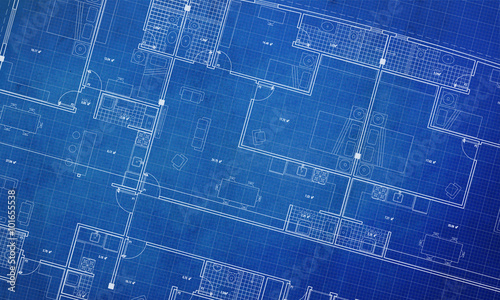 Clean architecture Floor plan background blueprint style abstract