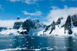 Mountains of Antarctica in a beautiful sunny day