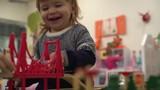 4K Toddler having fun laughing at children