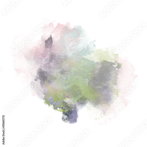 Pastel Watercolor Splash for various decor. Paper Illustration. © LoveKay