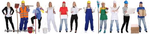 Berufe Beruf Ausbildung Business Frau Berufswahl Menschen stehen