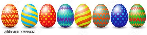 Fototapeta Row of easter eggs