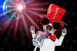 Obrazy na płótnie, fototapety, zdjęcia, fotoobrazy drukowane : karaoke singing dog