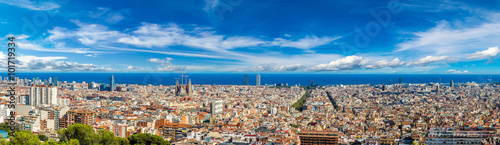 Deurstickers Barcelona Panoramic view of Barcelona
