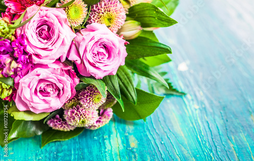 Fresh bouquet of fragrant flowers