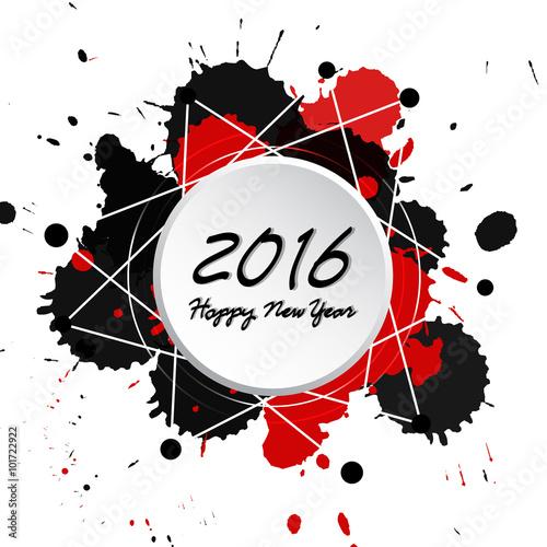 Keuken foto achterwand Vrouw gezicht Colorful Bright New Year 2016 Background
