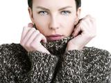 Bellezza perfetta con maglione di lana