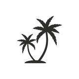 Palm tree - vector icon. - 101745773