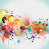 Рисунок акварель цветы