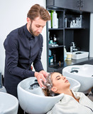 shampoo for hair, beauty salon, hair wash