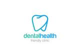Fototapety Health Dent Logo design linear. Dental clinic Logotype icon