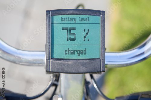 Electric bicycle display in the sun Poster