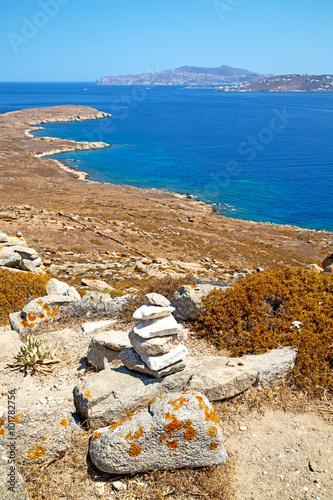 Foto op Plexiglas Cyprus antique in delos greece the historycal acropolis and old ruin s