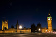 westminster and the big ben by night