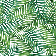 paume tropical Aquarelle feuilles seamless pattern. Vector illustration.
