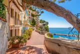 Fototapety Street in Monaco Village in Monaco Monte Carlo, France.
