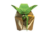 Origami Yoda jedi isolated on white