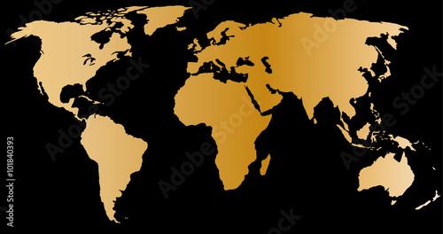 Złota mapa świata