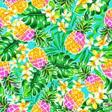 cute pineapples ~ seamless fashion print - 101846762