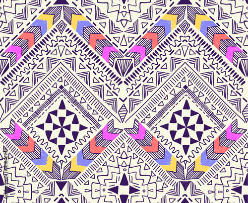 Cool tribal geometric design ~ seamless background - 101846949