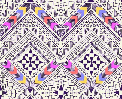 Materiał do szycia Cool plemiennych projektowania geometrycznego ~ bezszwowe tło